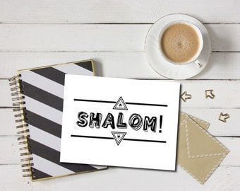 Shalom card etsy uk shalom card shalom greeting card jewish holiday card hanukkah card hanukkah greeting m4hsunfo