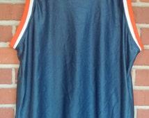 1980's basketball shirt nylon blue orange Dodger brand