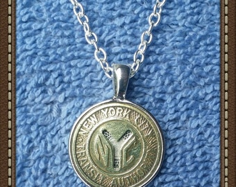 Handcrafted New York Transit Token Pendant Necklace
