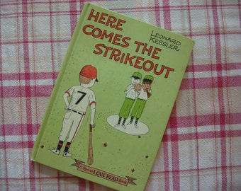 "Vintage Children's Book , 1965, ""Here Comes the Strikeout"", Baseball Story, Sports I Can Read Book, Lesson in Not Giving Up, Great Kids Book"