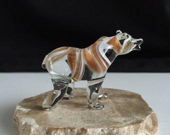 Handblown Glass Bear Sculpture