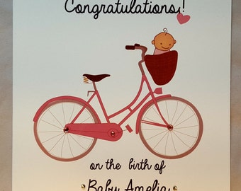 Personalised New Baby Congratulations Card