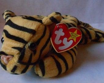 Original TY Beanie Babies 1995 Stripes the Tiger