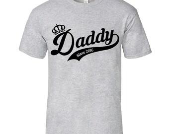 Daddy Since 2016 T Shirt, Since 2016, Dad T Shirt, Daddy Tshirt, Daddy T-Shirt, Dad Tshirt, Father's Day T-Shirt, Fathers Day Tshirt, Shirt