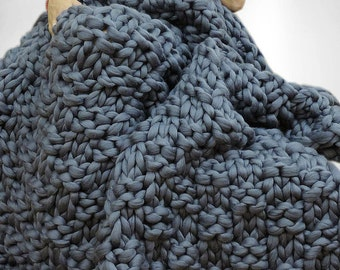 Chunky blanket, Merino wool blanket, Chunky knit blanket, Wool blanket, Blanket, Knitted blanket, Knit blanket, Throw Blanket, Blanket Throw