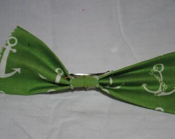 Nautical Hair Bow - French Barrette