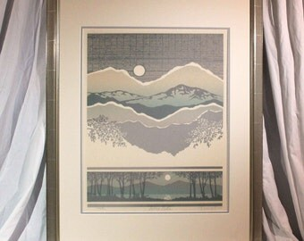 "C. Newhardt ""Sierra Vista"" 1983 limited edition lithograph 295/950"