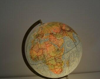 Globe Earth vintage, 60s, light, scan-globe, Denmark