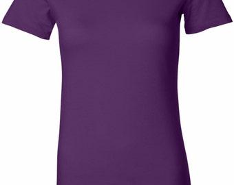 US Flag Bottom Print Ladies Longer Length Tee T-Shirt 3991B-6004