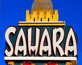 Sahara Casino Sign, Color Photograph, Las Vegas, Nevada