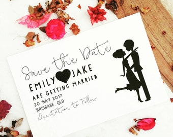 Wedding Stds, Personalised Save the Date Cards, Monochrome Wedding Announcement, Save the Date Wedding Invitations, Wedding Stationery