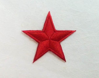 Red Star Iron on Patch-Red Star Applique Embroidered Iron on Patch -Size 4.5x4.3 cm)
