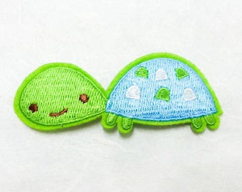 Turtle Cartoon Iron on Patch - Turtle Cartoon Applique Embroidered Iron on Patch - Size 7.9x3.0 cm