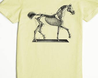 Women's T-shirt - Women's Horse Tshirt - Horse Skeleton Shirt - graphic tee