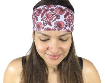 Yoga Headband Floral Workout Headband Running Headband Wide Headband Fitness Headband No Slip Headband Fashion Headband Women Head Wrap S110