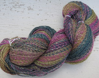 Hand Spun Yarn 487 Yards Superwash Merino Seacell Banana Heavy Dk Weight