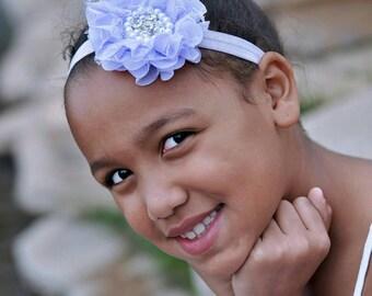 Lace headband -lavender baby headband - bling flower headband - lace headband - infant headband - girls headband - flower headband - purple