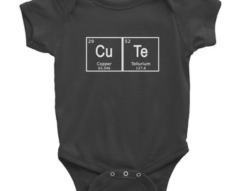 Periodic Table CUTE Baby onesie bodysuit creeper Hipster infant girl boy Chemistry Science Teacher new baby shower gift present 0128