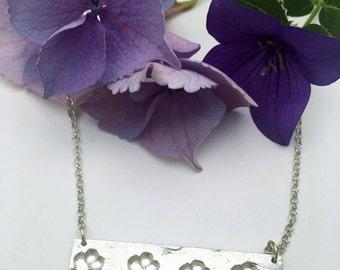 Dog paw necklace Bar Necklace, Dog lover gift, Silver bar necklace dog jewelry  silver dog paw jewelry, animal lover gift dog lover necklace