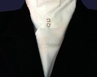 Embossed Cream Stock Tie