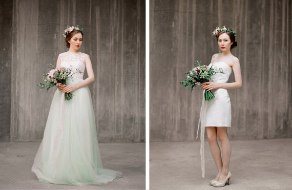 Set of bridal separates convertible wedding dress like this item junglespirit Image collections