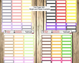 Bordered Large Label Stickers for your Planner
