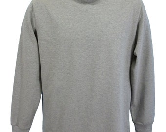 Polo Neck shirt, grey marl.   Made in England. J703