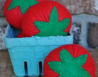 Felt Tomatoes - Felt Food for Pretend Play