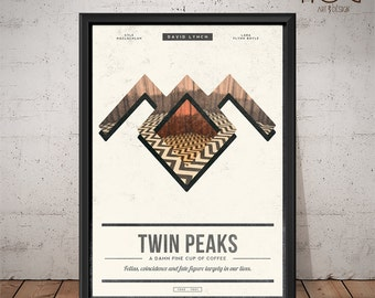 TWIN PEAKS Poster - David Lynch - Unique Retro Poster - Print, Wall Art