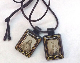 Scapular Lot - 2 pc Sacred Heart & Our Lady of Grace