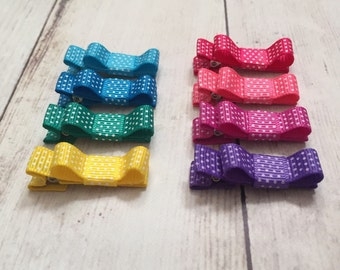 Baby Hair Clips, Infant Hair Clips, Toddler Hair Clips, No-Slip Hair Clips, Bow Hair Clips for Girls, Baby Bows, Tuxedo Bow Clips