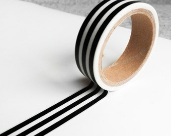 Cute washi tapes - black&white stripes