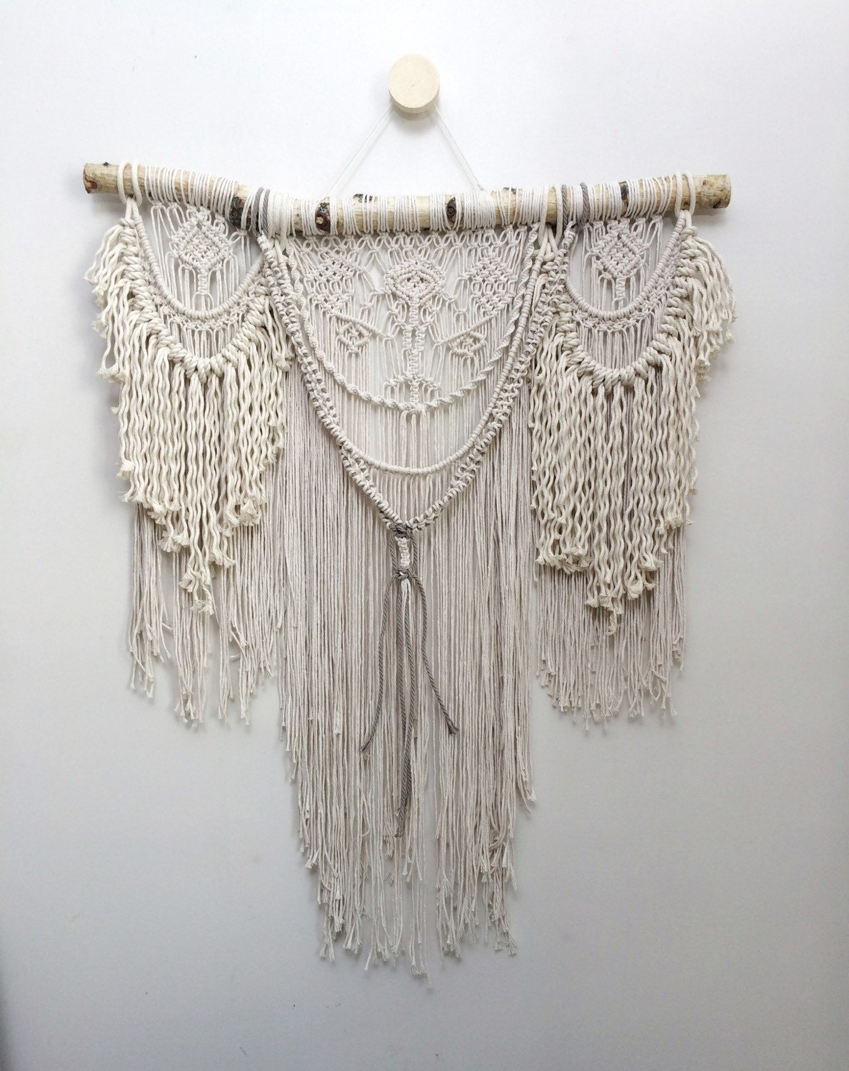 32 Large macrame wall hanging bohemian wall by NiromaStudio