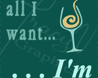 Printable Wine Label - I'm Retired