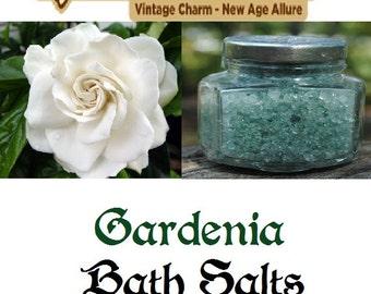 Gardenia Scented Bath Salts 100% Dead Sea Salt 4 oz Jar