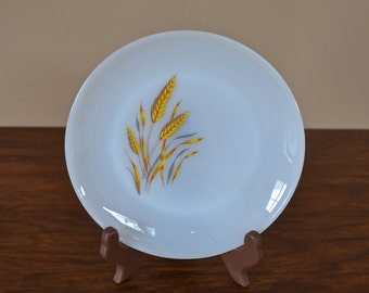 Vintage Anchor Hocking Fire King Milk Glass Dinner Plate