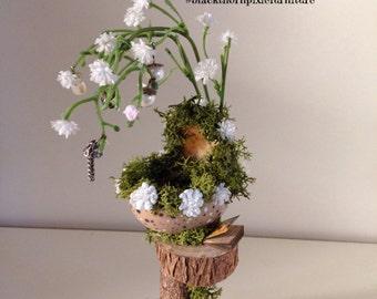 Miniature fairy furniture Moses Basket