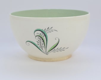 Copeland Spode 'Olympus' sugar bowl, green, black, and white, classic 1950s look