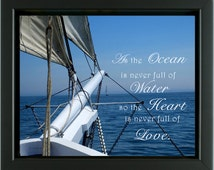 AzarEl's Ocean from the Bow of the Isaac Evans windjammer-photo or canvas print / Love wall decor /sea, sailing, national historic landmark