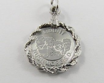 Mount Rushmore South Dakota Sterling Silver Charm or Pendant.