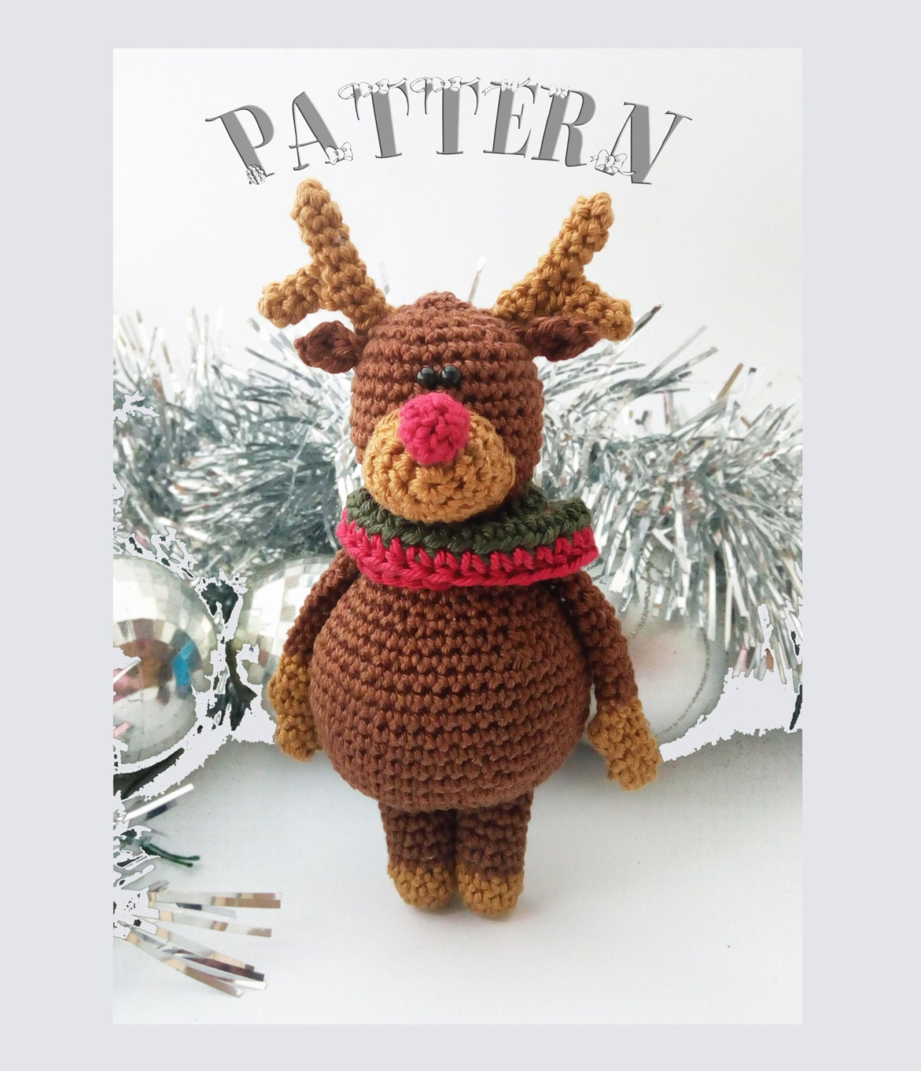 Reindeer crochet pattern christmas crochet patternchristmas this is a digital file bankloansurffo Choice Image