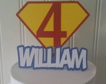 Super Hero Cake Topper, Super man Cake, Super hero cake topper, Super hero party supplies, Super Hero