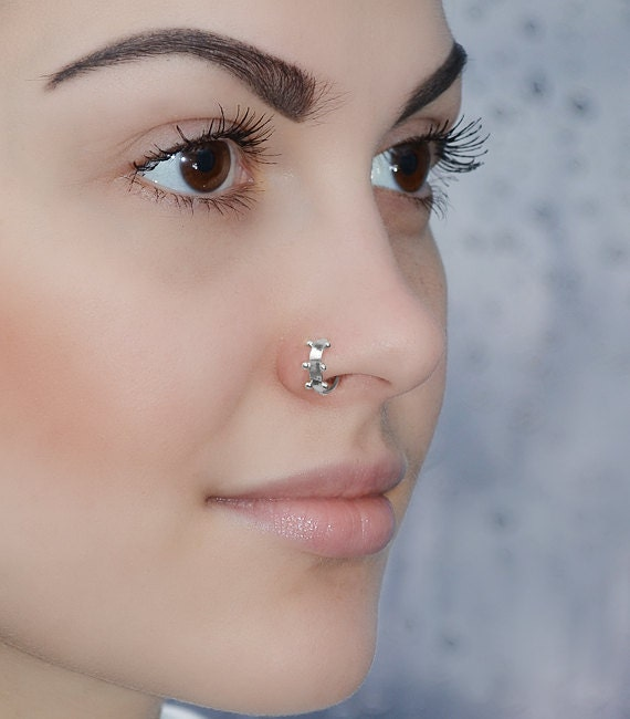 small nose ring silver nose ring hoop conch piercing