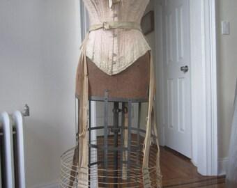 Antique victorian Bustle wire hoop skirt #4
