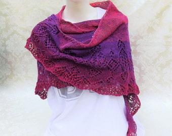 Summerly, shawl, scarf, pink / purple