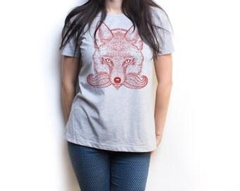 Fox shirt Fox tshirt red fox animal art animal shirt animal print animal t shirt animal tshirt