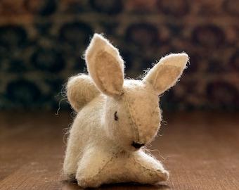Waldorf bunny - felt bunny - small - Waldorf rabbit - Waldorf toy -  toy rabbit - white bunny - season table - Easter