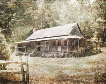 North Georgia, Homestead, Photography, Print, Affordable, Under 10 Dollars, 8x10, House, Home