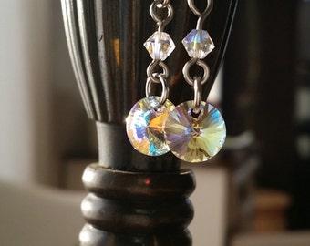 Swarovski earrings crystal AB