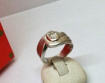 Ring Silver 925 with Crystal stone 17.9 mm SR584